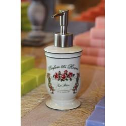 """Distributeur de savon liquide Thème """"Roses"""""""