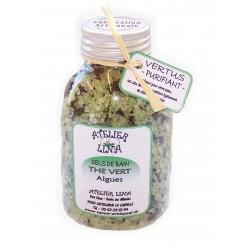 Sels de bain avec vertus parfum Thé vert