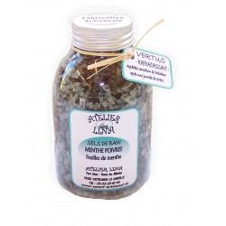 Sels de bain avec vertus parfum Menthe poivrée