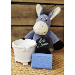 Savon au lait d'ânesse parfum Lavande