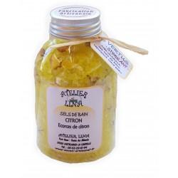 Sels de bain avec vertus parfum Citron
